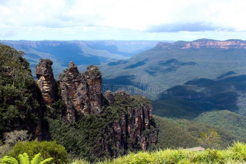 Blue Mountains during day time in Australia royalty free stock photography