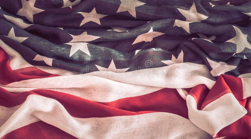 National Patriotic symbols. The old American flag stock images