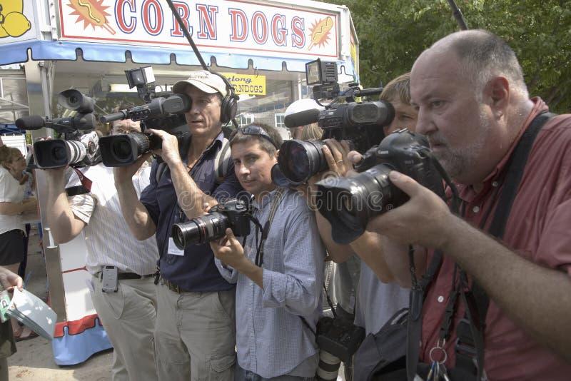 National press following former U.S. Senator stock images