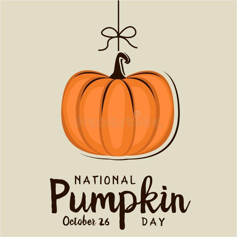 Natonal Pumpkin Day Stock Vector Illustration Of October 128272621