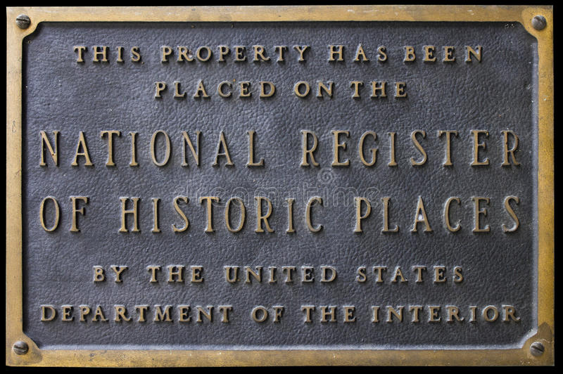 Download National Register Of Historic Places Sign Plaque Editorial Photo - Image: 28842096