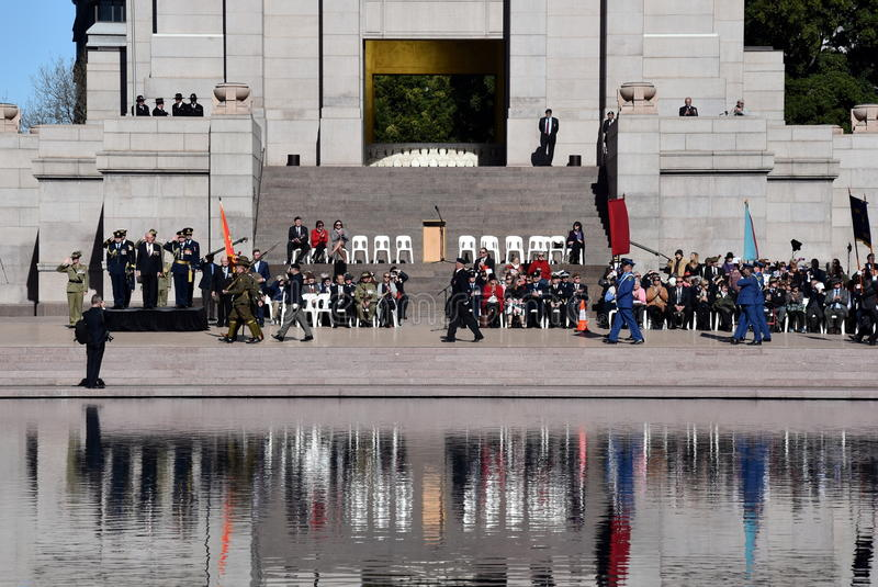 The National Reserve Forces Day Parade at the ANZAC Memorial stock images