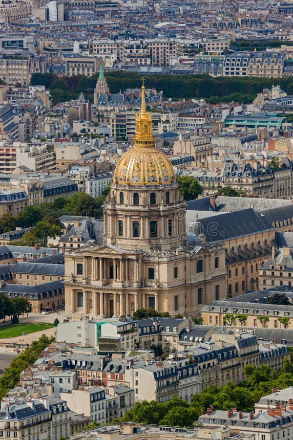 The National Residence of the Invalids in Paris France royalty free stock photo