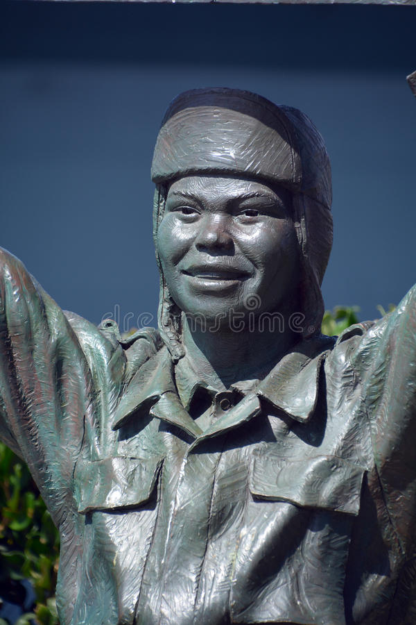 National Salute to Bob Hope. SAN DIEGO CA USA APRIL 8 2015: Detail of the bronze statues of A National Salute to Bob Hope and the Military. On the plaza, there royalty free stock photos