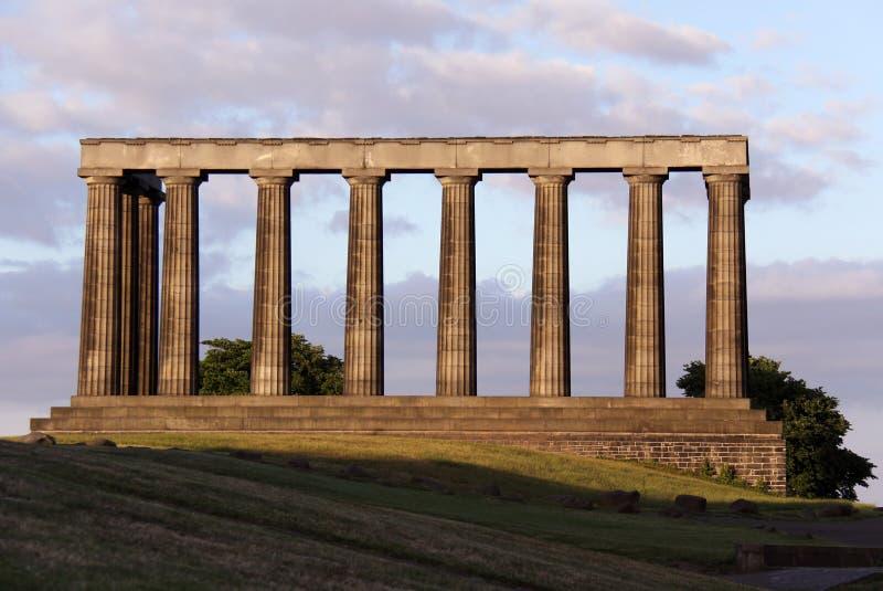 national scotland för monument för caltonedinburgh kull fotografering för bildbyråer