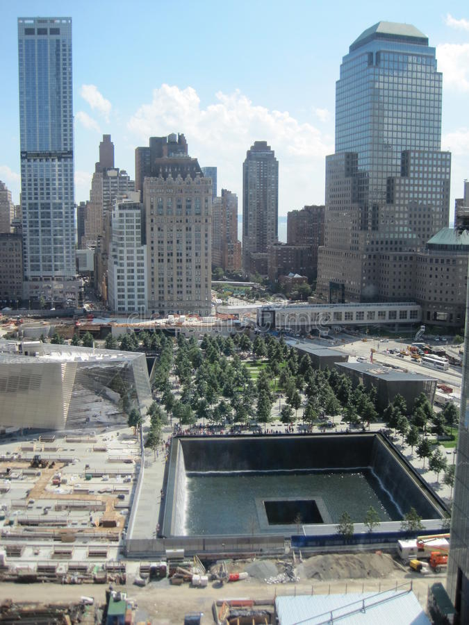 National September 11 Memorial & Museum at the World Trade Center site. This is the principal memorial commemorating the September 11 attacks of 2001 royalty free stock image