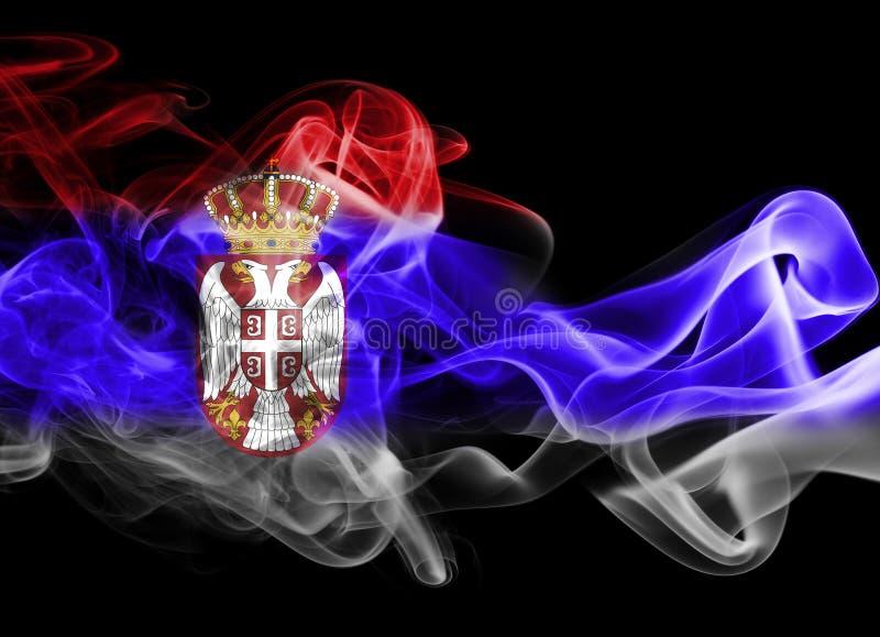 Serbia national smoke flag royalty free stock image
