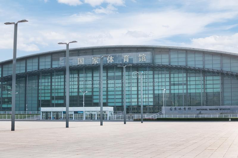 National Stadium in the Olympic Park in Beijing. BEIJING, CHINA - May 7, 2018: The facade of the indoor National Stadium in the Olympic Park in Beijing stock photos