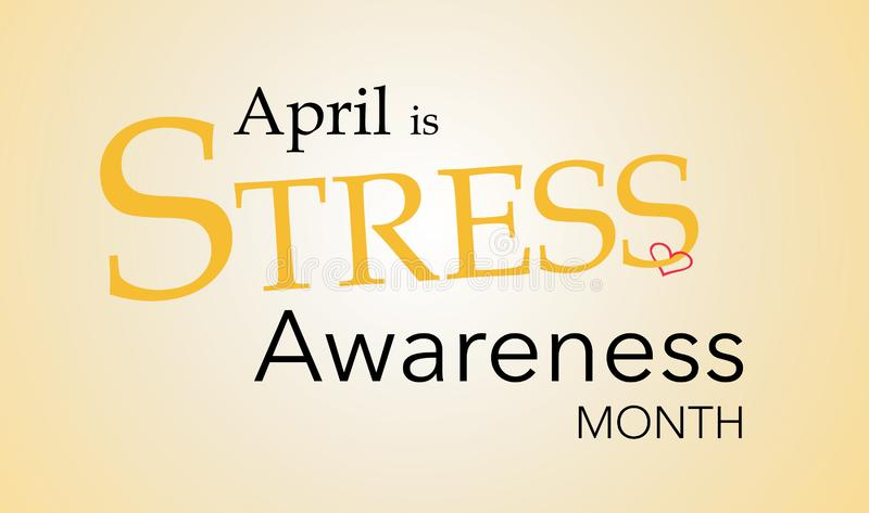 National Stress Awareness Month royalty free stock photography