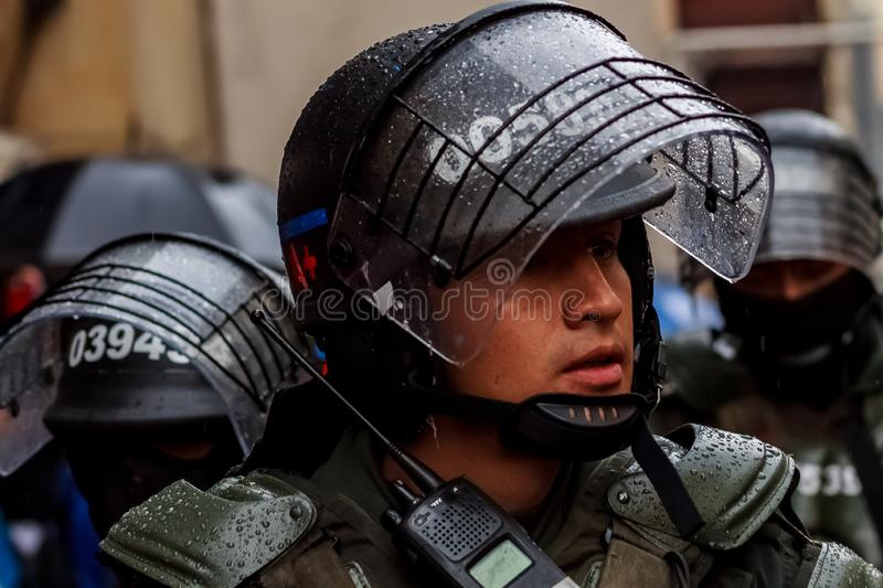 Colombia National Strike stock photography