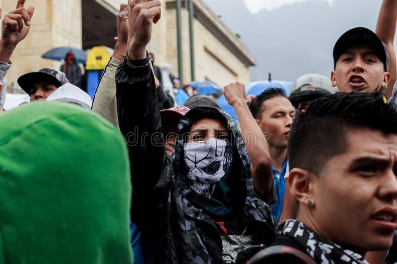 Colombia National Strike stock photos