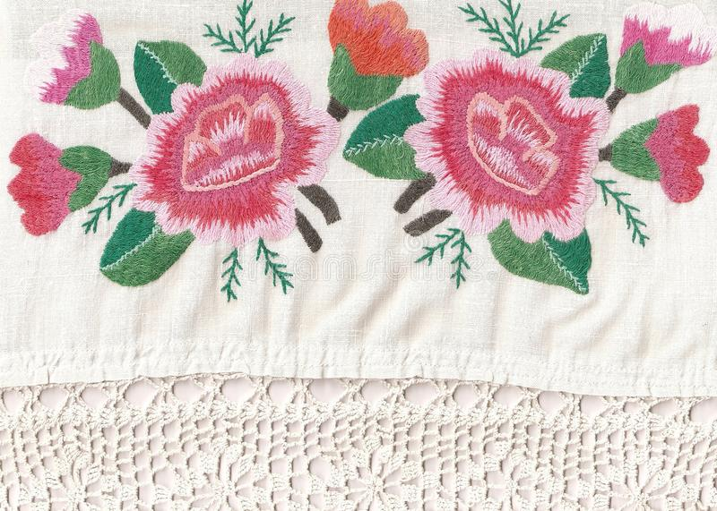 National style of embroidery. royalty free stock image