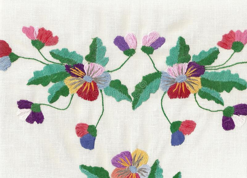 National style of embroidery. royalty free stock images