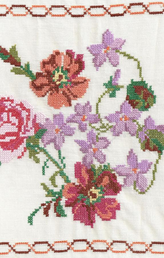 National style of embroidery. stock images