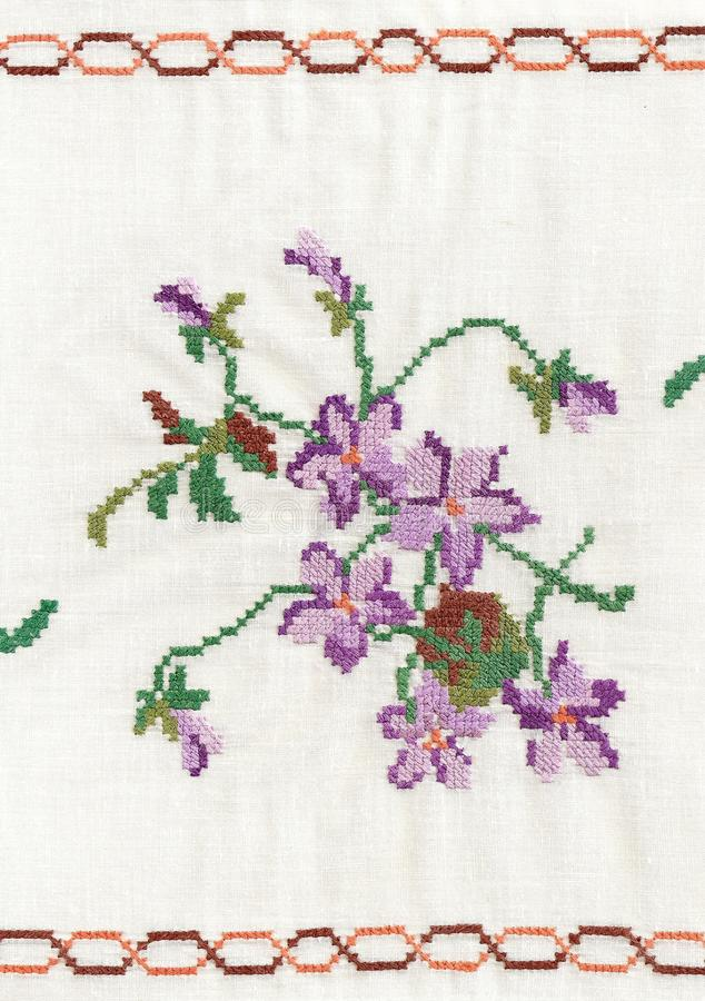 National style of embroidery. royalty free stock photo