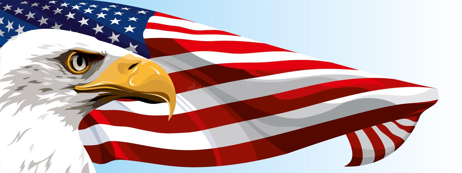 The National Symbol Of The Usa Stock Vector Illustration Of Banner