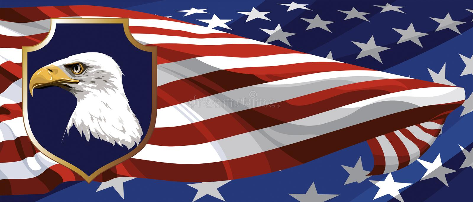 The National Symbol Of The Usa Stock Vector Illustration Of Object