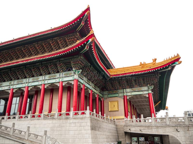 National Theater and Concert Hall stand on the south and north sides of the Chiang Kai-shek Memorial Hall. royalty free stock photo