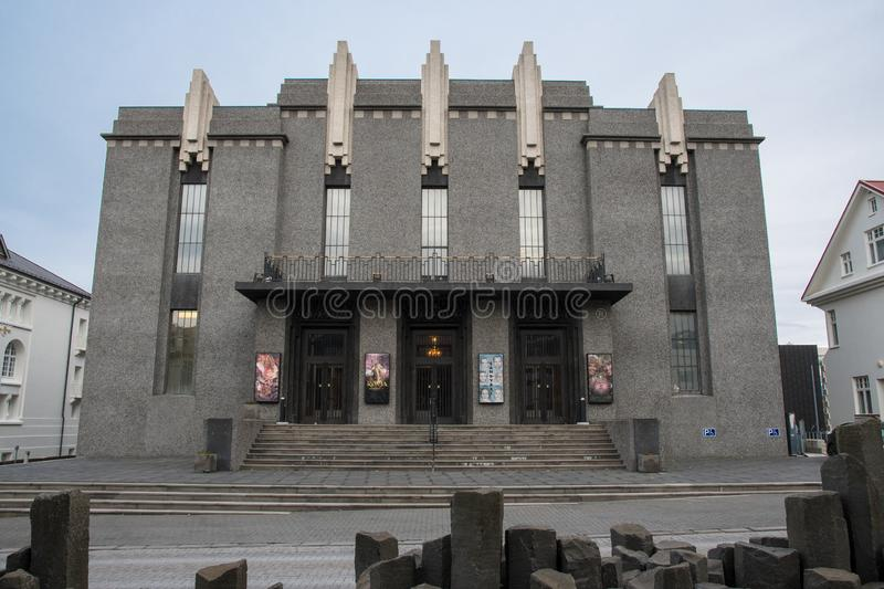 The National theater of Iceland stock photography