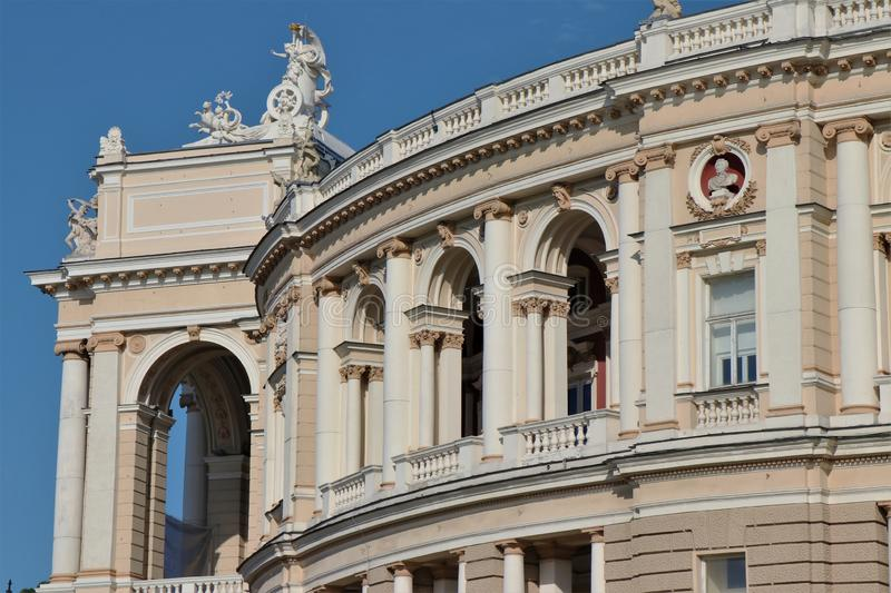 National theater of Odessa. Opera, ballet and similar events. Landmark and symbol of Odessa. Touristic attraction royalty free stock photo