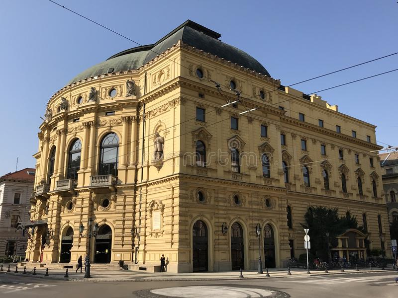 National Theater, Szeged, Hungary. Built in 1883, National Theater in Szeged, Csongrad, Hungary royalty free stock image