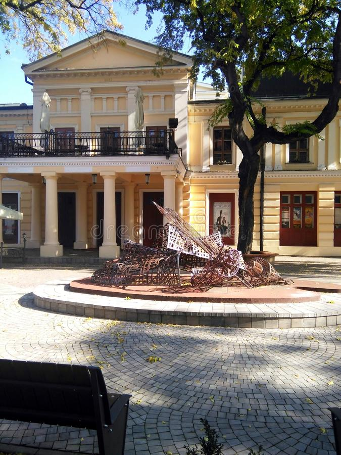 National Theatre Building in Sombor royalty free stock image