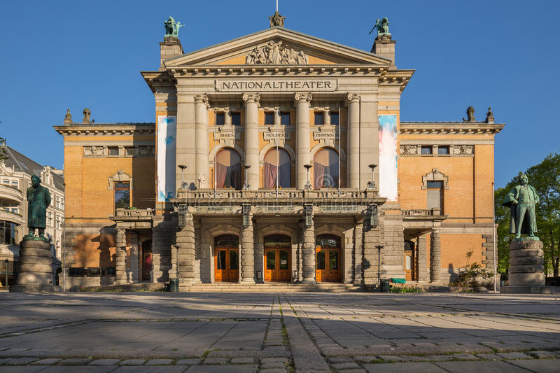 National Theatre Nationaltheatret in Oslo royalty free stock images