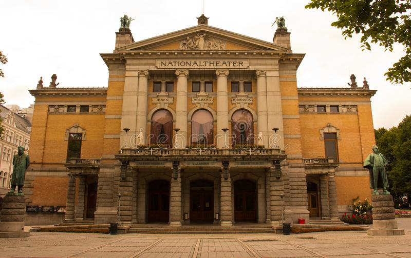 The National Theatre in Oslo royalty free stock photo