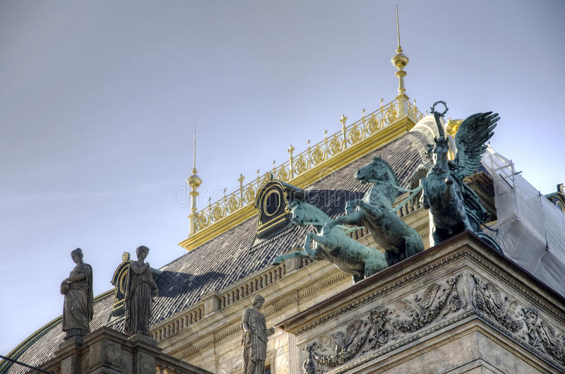 The National Theatre in Prague stock image