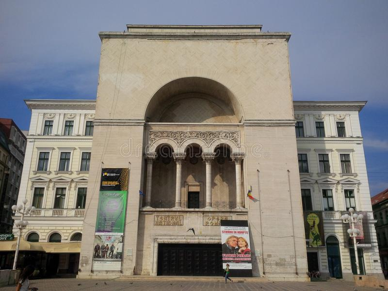 National Theatre from Timisoara stock photography