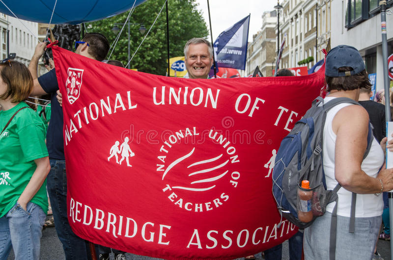 Download National Union Of Teachers Banner Editorial Stock Image - Image: 41830749