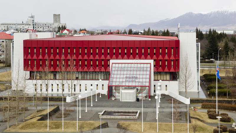 National and University Library of Iceland royalty free stock photography