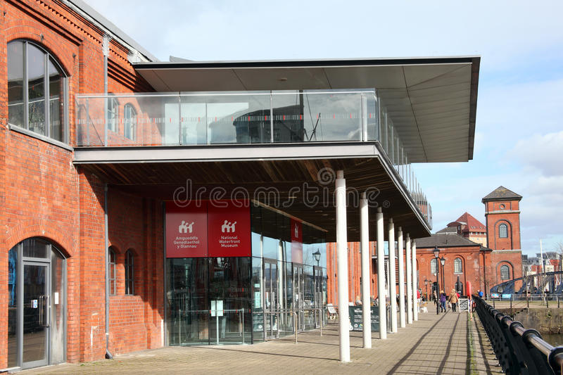 The National Waterfront Museum in Swansea Wales royalty free stock photography