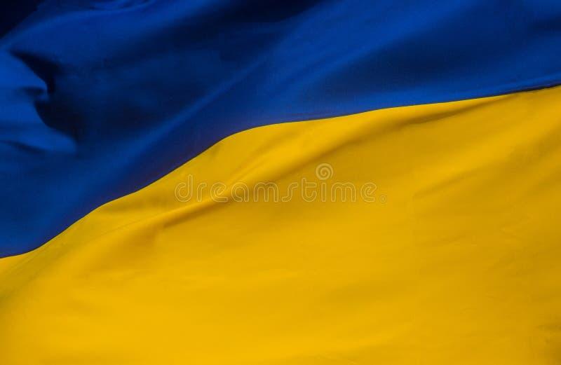 National yellow blue flag of Ukraine. National yellow blue of closeup of the flag of the Ukraine, ukrainian, symbol, country, banner, patriotism, europe stock image