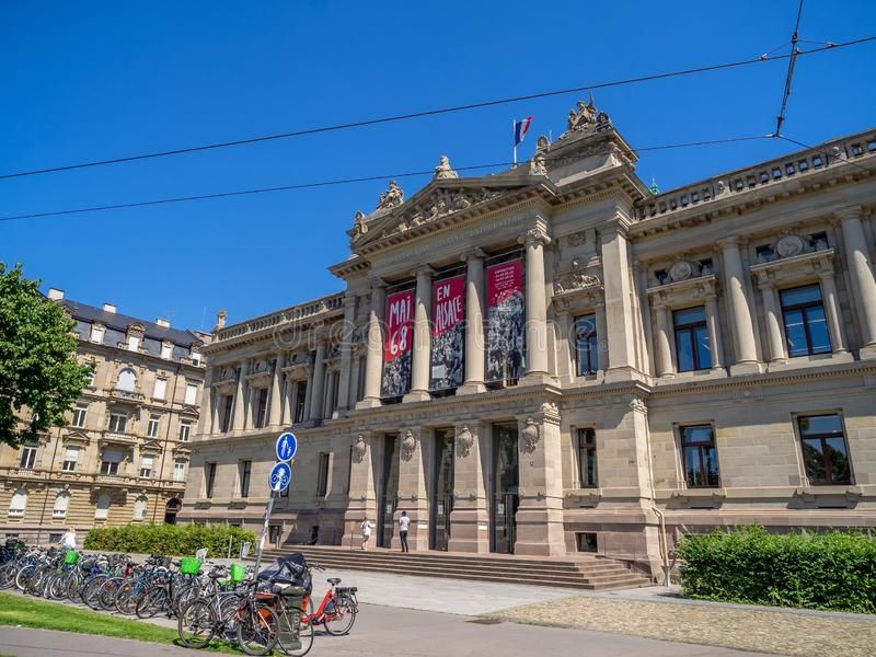 Nationalbibliothek der Universität von Straßburg lizenzfreies stockbild