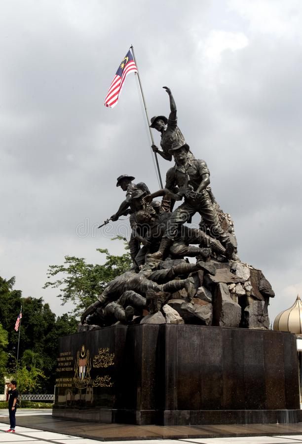 Nationaldenkmal oder 'Tugu Negara 'in Kuala Lumpur, Malaysia stockfotos