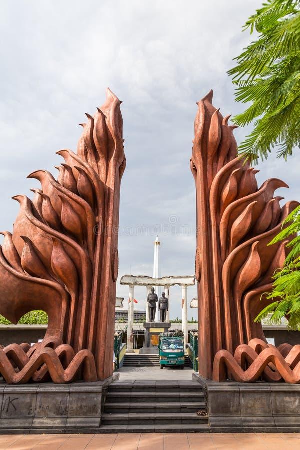 Nationaldenkmal in Surabaya, Held-Tag, Osttimor, Indonesien stockbild