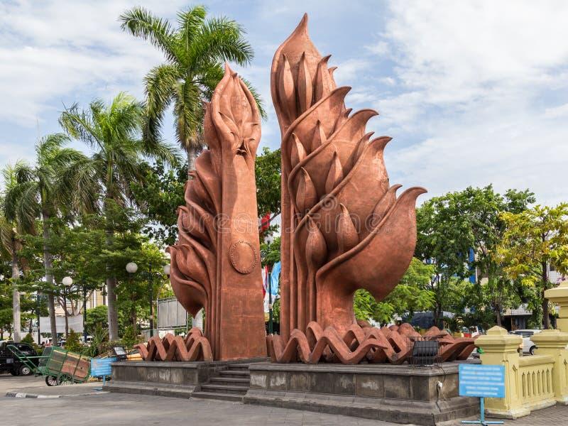 Nationaldenkmal in Surabaya, Held-Tag, Osttimor, Indonesien lizenzfreies stockbild