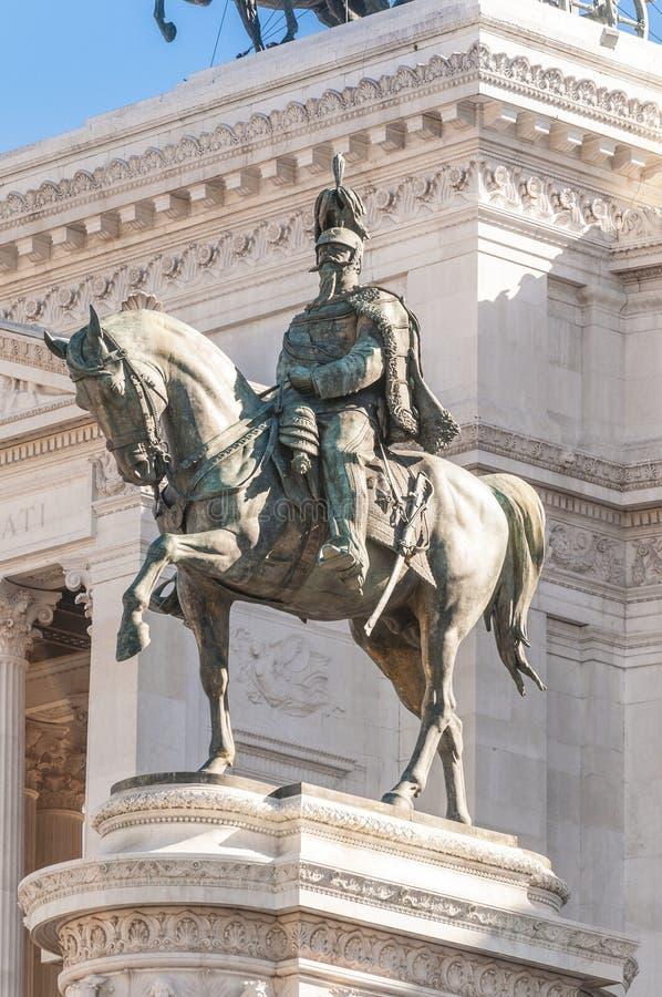 Nationaldenkmal zu Victor Emmanuel in Rom, Italien. lizenzfreie stockbilder