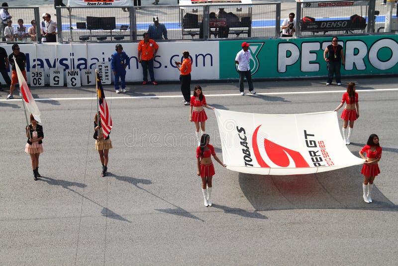 Nationale anterm Zeremonie bei SuperGT 2010 stockfoto