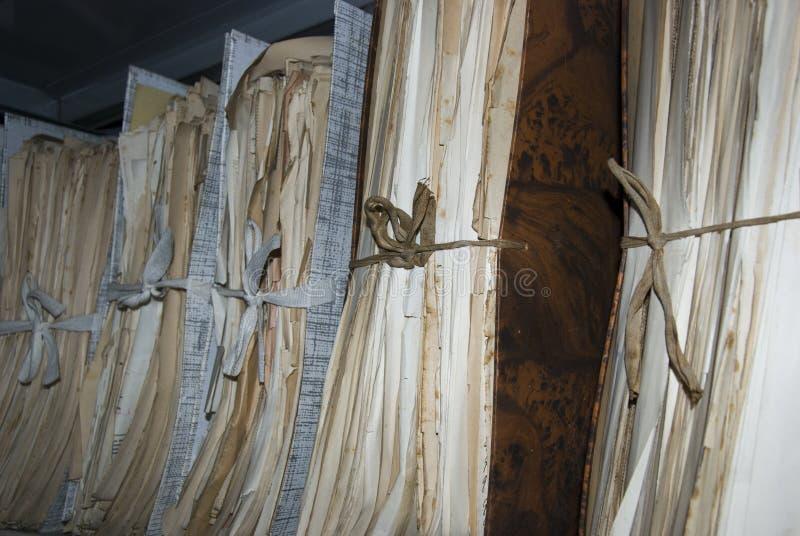 Nationale archiefdocumenten stock afbeelding