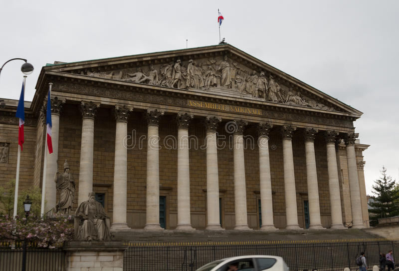 Nationale assemblee in de stad van Parijs, Frankrijk stock foto