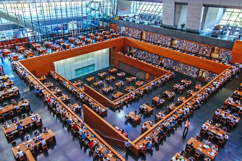 Nationale bibliotheek van China stock foto's