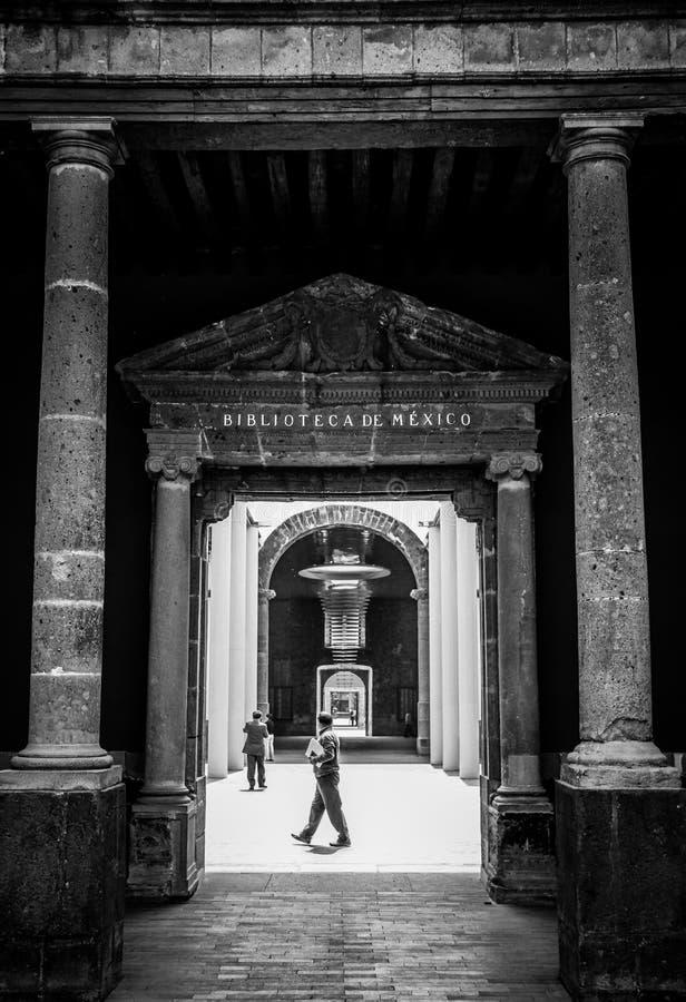 Nationale Bibliotheek van Mexico, Mexico-City, Mexico stock afbeeldingen