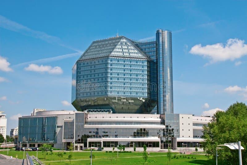 Nationale bibliotheek van Wit-Rusland stock foto's