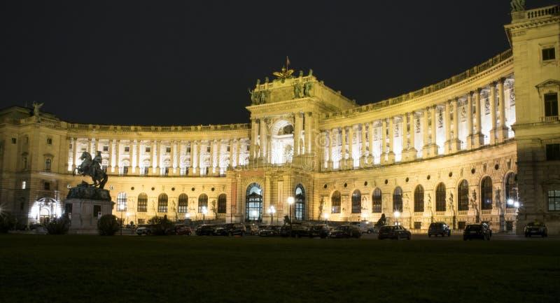 Nationale Bibliotheek in Wenen Neue Burg stock foto