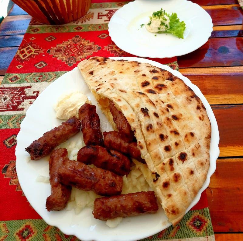 Nationale bosnische Mahlzeit stockbild