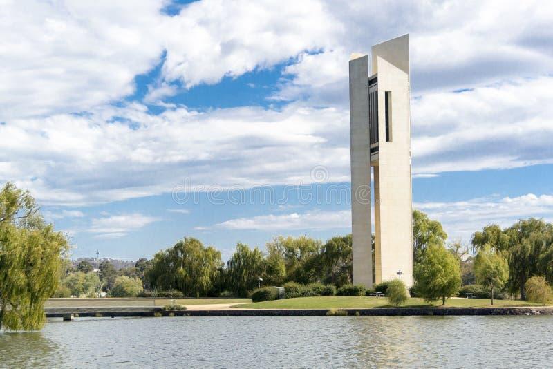 Nationale Carillonklokketoren, Canberra, Australië stock foto's