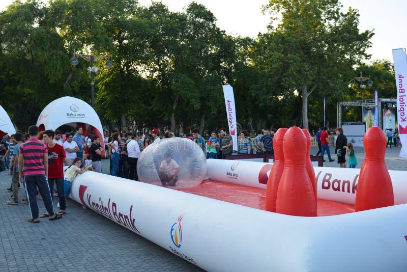 Nationale competities in kustpark in Baku royalty-vrije stock fotografie