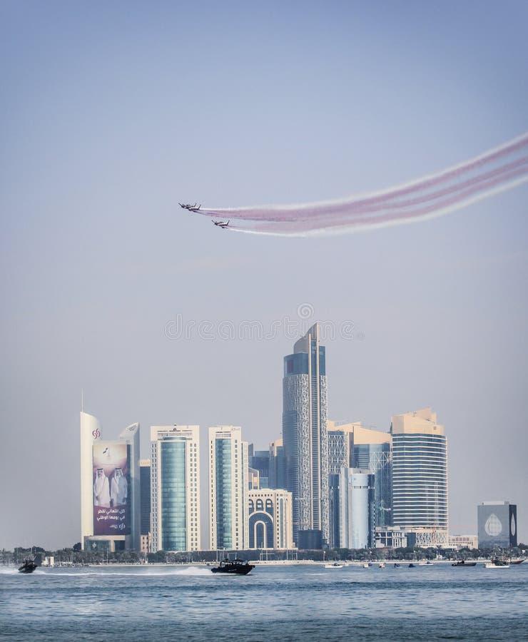 Nationale Dag in Doha 2015, Qatar royalty-vrije stock fotografie